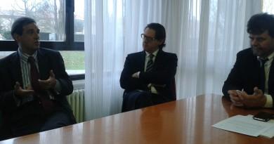 Da sinistra: il direttore Ipab Daniele Roccon, il sindaco Giuseppe Casson ed il presidente Daniele Boscolo Chio
