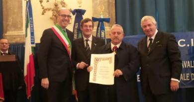Giorgio Aldrighetti durante la cerimonia