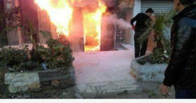 L'incendio nel locale del cairo