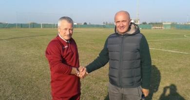 L'allenatore Renzo Rocchi ed il presidente Ivano Bielo