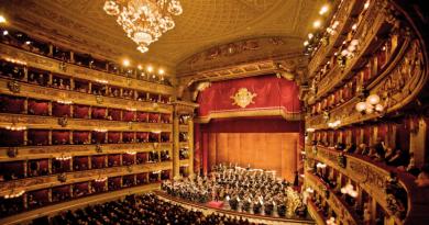 L'interno della Scala di Milano