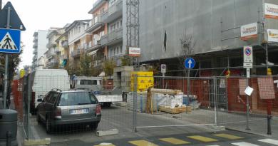 Lavori in corso nei pressi di Viale Venezia