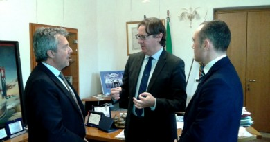 Il sindaco Giuseppe Casson qui a colloquio con il questore Sanna.
