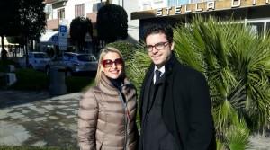 L'ing. Stefano Boscolo Cucco con la nostra Francesca Pinelli