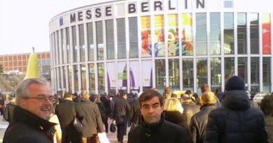 Il presidente del consorzio di tutela Igp Giuseppe Boscolo Palo (a sinistra) alla fiera di Berlino