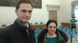 L'assessore Massimiliano Tiozzo con Valeria Tiozzo dei Titoli Minori