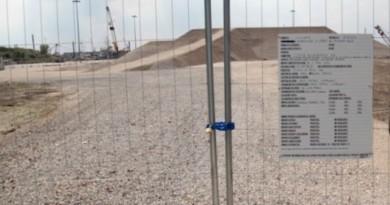 L'impianto di gpl a Punta Colombi in fase di realizzazione