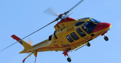 L'elicottero del 118 di Padova