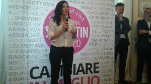 Marcellina Segantin durante la presentazione