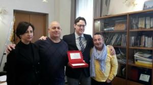Massimo Turcato con il sindaco Giuseppe Casson