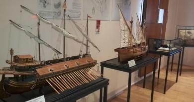 Alcuni modellini di imbarcazioni presenti nel museo