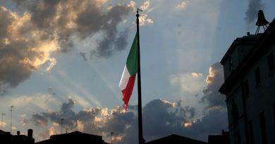 Lo stendardo di Chioggia con il tricolore