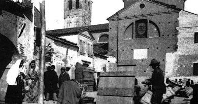 Una calle di Chioggia in una foto d'epoca