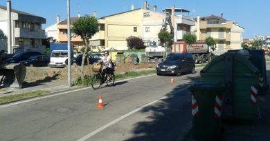 Il tratto di via Pigafetta interessato dai lavori