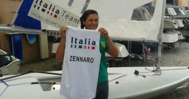 Silvia Zennaro con la canotta olimpica