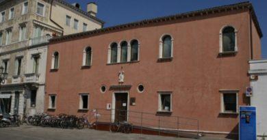 La facciata di Palazzo Morosini