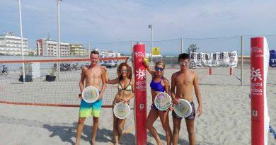 I finalisti del torneo da sinistra: Enrico Boscolo, Vanna Pregnolato, Romina Boscolo e Tommaso Callegaro