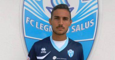 L'attaccante Luca Rivi con la maglia del Legnago