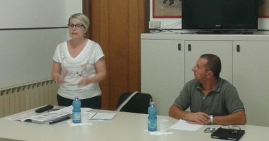 L'on. Sara Moretto con il segretario del PD di Chioggia Antonio Duse