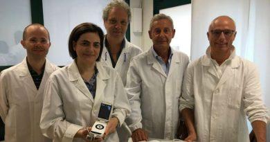 Il primario di cardiologia prof. Valle, con il responsabile MGI dr. Malusa e il responsabile del poliambulatorio dr. Barbarino