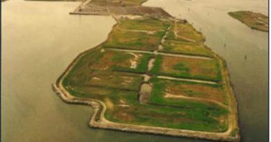 La zona di Val da Rio prima della realizzazione del porto