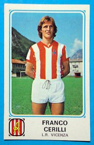 Franco Cerilli con la maglia del Vicenza