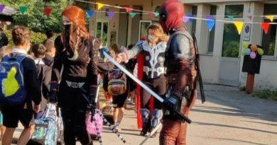 Primo giorno di scuola: alla Caccin arrivano gli Avengers